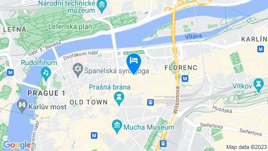 Grand Majestic Hotel Prague Map