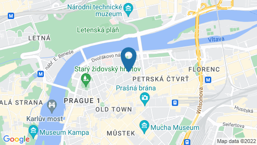 Hotel Hastal Prague Old Town Map