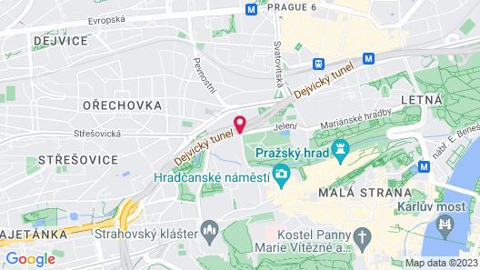 EA Hotel Jelení dvůr Prague Castle Map