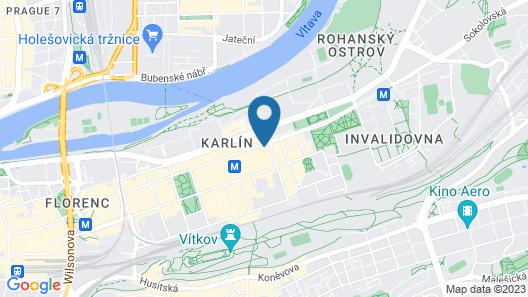 Pentahotel Prague Map
