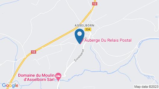 Auberge du Relais Postal Map