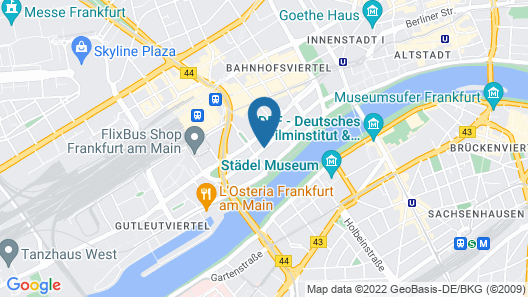 Scandic Frankfurt Museumsufer Map