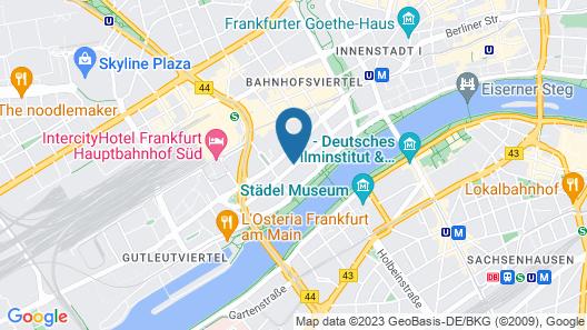 InterContinental Frankfurt Map