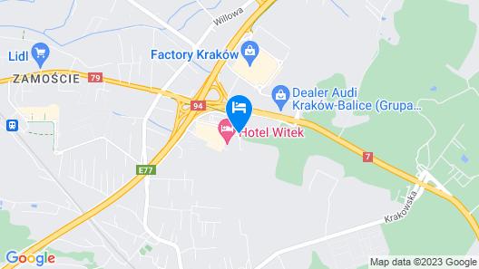 Witek Hotel & Conference Centre Map