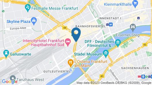 Novum Hotel Continental Frankfurt Map