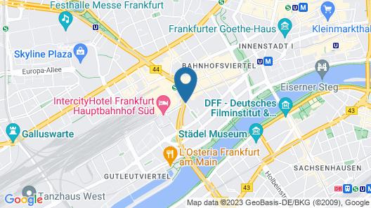 Savoy Hotel Frankfurt Map