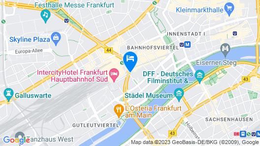 The Frankfurt Hotel Map