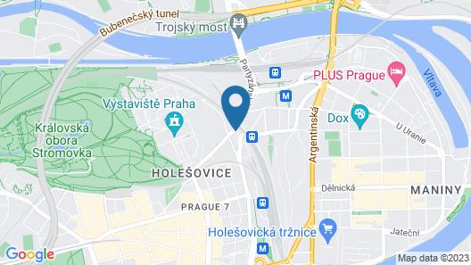 Le Petit Hotel Prague Map