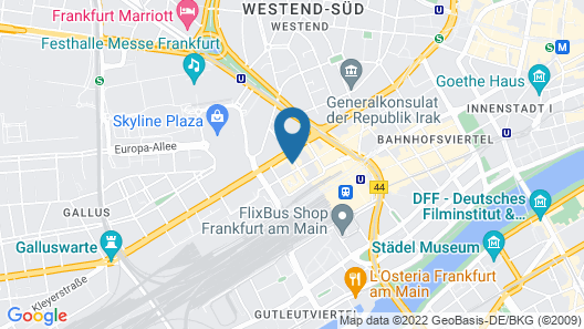 Bristol Hotel Frankfurt Map