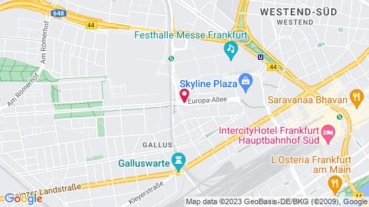 MEININGER Hotel Frankfurt/Main Messe Map