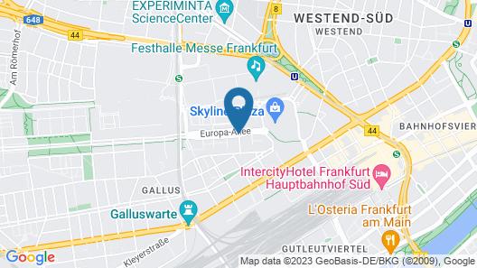 Citadines City Centre Frankfurt Map