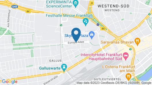 Hampton by Hilton Frankfurt City Centre Map