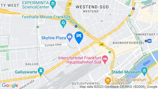 Adina Apartment Hotel Frankfurt Westend Map