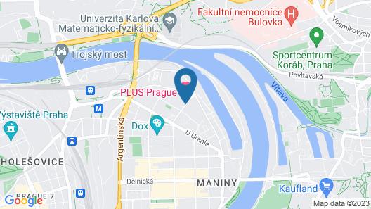 Plus Prague Hostel Map
