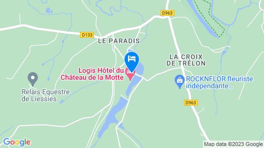 Hôtel du Château de la Motte Map
