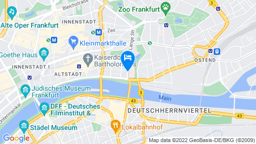 Flemings Hotel Frankfurt Main-Riverside Map