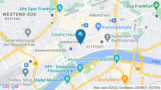 Motel One Frankfurt-Römer Map