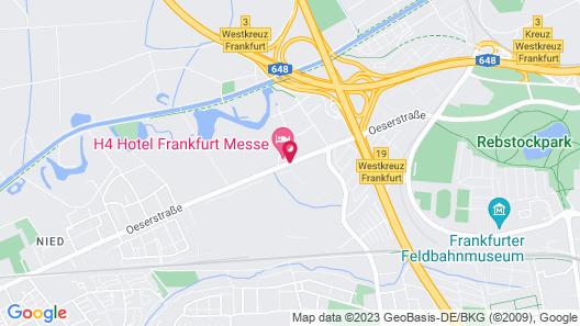 H4 Hotel Frankfurt Messe Map