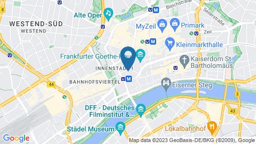 Steigenberger Frankfurter Hof Map