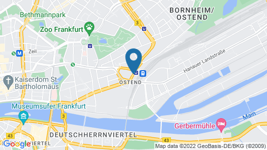 Hampton by Hilton Frankfurt City Centre East Map