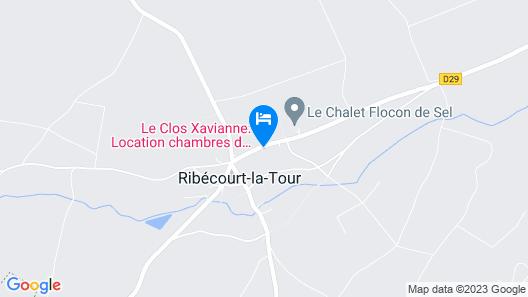 Le Clos Xavianne Map