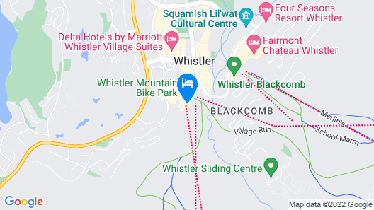 Closest Accommodation To Both Whistler And Blackcomb Lifts Map