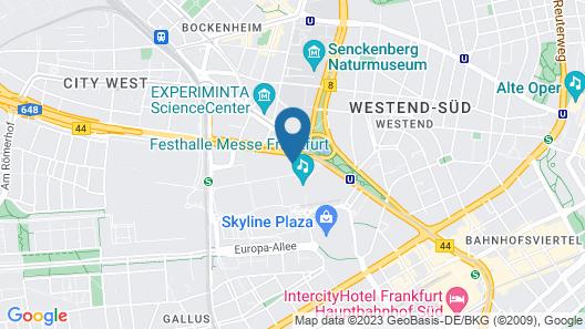 Maritim Hotel Frankfurt Map