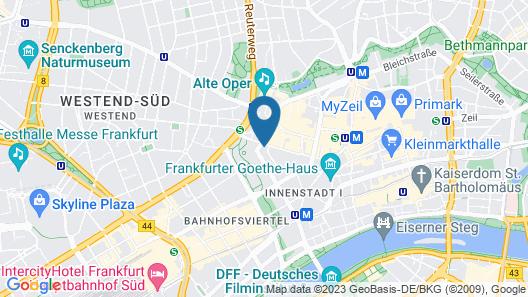 INNSiDE by Melia Frankfurt Eurotheum Map