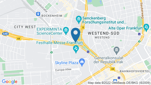 Frankfurt Marriott Hotel Map