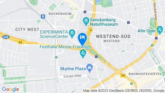 Frankfurt Marriott Hotel Map