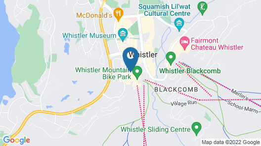 Mountain Side Hotel Whistler by Executive Map