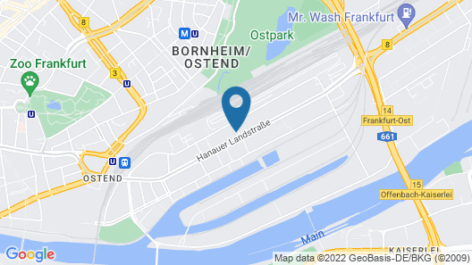 a&o Frankfurt Ostend Map