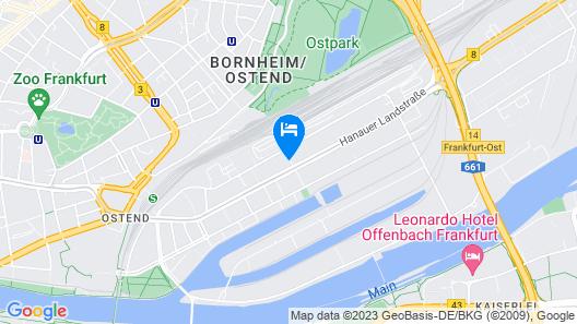 a&o Frankfurt Ostend Map