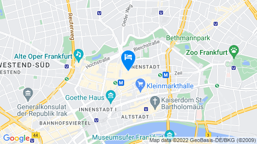 Jumeirah Frankfurt Map