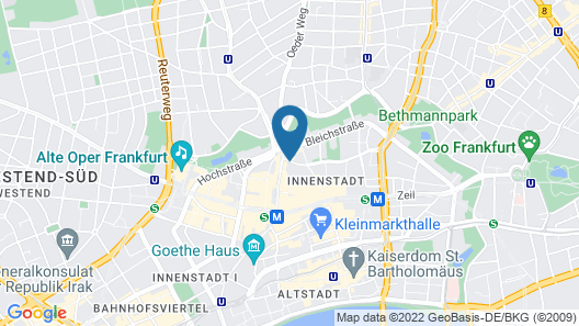 Residence Inn by Marriott Frankfurt City Center Map