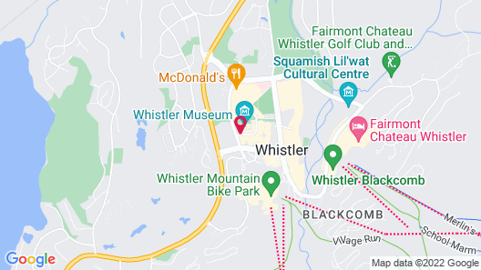 Pinnacle Hotel Whistler Village Map