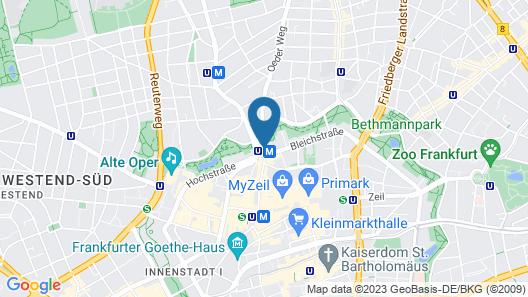 Flemings Selection Hotel Frankfurt-City Map