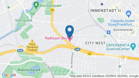 Radisson Blu Hotel, Frankfurt Map