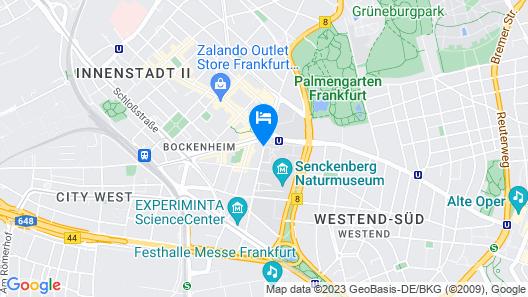 Hotel West an der Bockenheimer Warte Map