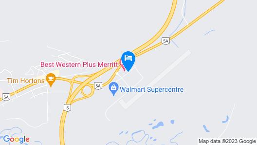Best Western Plus Merritt Hotel Map