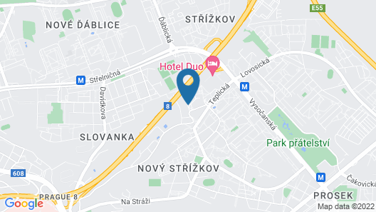 a&o Prag Metro Strizkov Map
