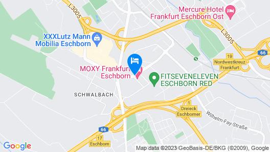MOXY Frankfurt Eschborn Map