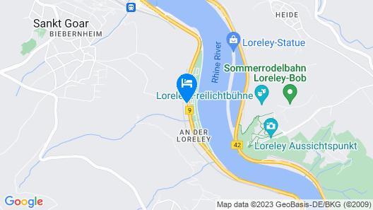 Hotel Winzerhaus Gaertner an der Loreley Map