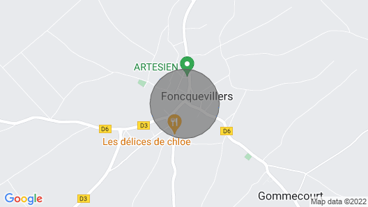 Furnished Tourist Accommodation 3 Stars La Grange in Foncquevillers Map