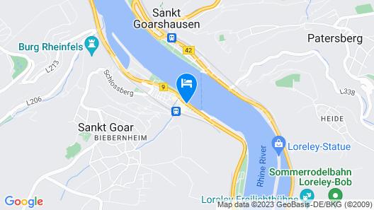 Hotel Rheinfels Map