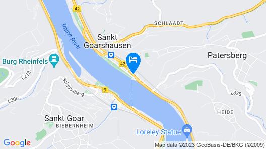 Pohl's Rheinhotel Adler Map