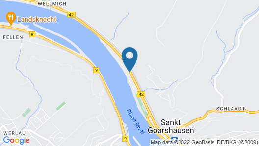 Amazing Holiday Home Directly on the Rhine With Roof Terrace and a Large Garden Map