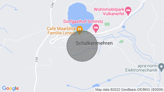 New, modern equipped apartment with lake view in the Vulkaneifel Map