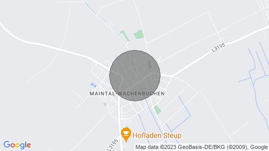 Fr06 Großes Ferienhaus in Maintal mit Terrasse und Wlan Map