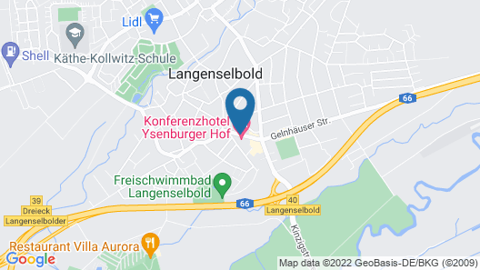 Konferenzhotel Ysenburger Hof Map